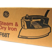 Vintage General Electric Steam Iron Appliance Mint NIB Original Box