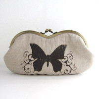 Sunglass Case- Butterfly On Beige L.. on Luulla