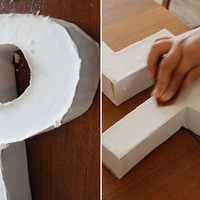 poppytalk: DIY With Bookhou: Plaster Letters Project
