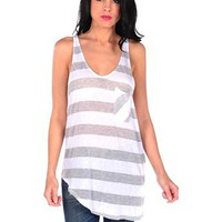 Asymmetrical V-neck Tank