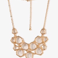 Faceted Geo Bib Necklace