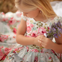 Girls Dress In Lovely Confections Of Pinks And by vintageprecious
