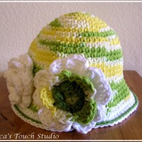 PATTERN. Toddler, Girl Flower Hat I.. on Luulla
