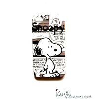 i Phone 4 4s Animation Case Cute Snoopy Hard Case for iPhone 4 4s , Hard Cover