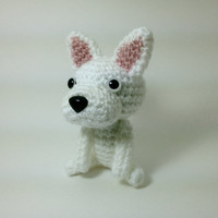 SALE / French Bulldog Amigurumi Dog Crochet Dog Stuffed Animal / Made to Order