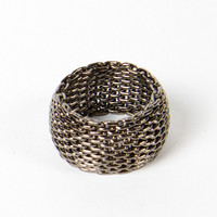 Mesh Gunmetal ring | a-thread