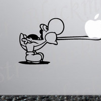 Yoshi Eats Apple Geek decal for Apple MacBook Pro by Blackmonstr