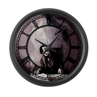 Vintage The Raven Theatrical Large Wall Clock by opheliasart- 470168283