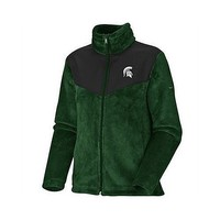 Columbia Michigan State Spartans Women`s Plush Pass Full Zip Fleece