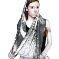 Apollo Moon Circle Scarf | Shadowplaynyc | Space inspired clothing in nebula and galaxy prints