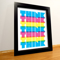 Think Typography Print - 8x10 Digital Print