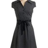 Hepcat Dress in Black Licorice | Mod Retro Vintage Printed Dresses | ModCloth.com