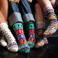 Turkish Colourful Socks : Lowie, Handmade woollen accessories and clothing