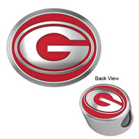 CB-135C Georgia Bulldogs Enamel Collegiate Bead