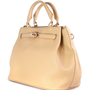 Nude Front Lock Shoulder Bag by Chic+ - Bags - Goods - Retro, Indie and Unique Fashion