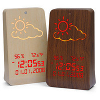 ThinkGeek :: WoodStation Weather Display