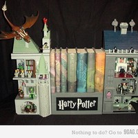 9GAG - harry potter bookcase