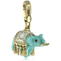 "Juicy Couture ""Charms"" Lucky Elephant Gold Charm - designer shoes, handbags, jewelry, watches, and fashion accessories 