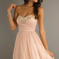 Short Strapless Sweetheart Prom Dress