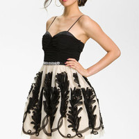 Way-In Chiffon Ribbon Party Dress (Juniors) | Nordstrom
