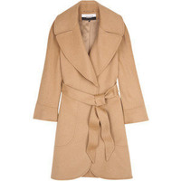 Jaeger London Camel Panelled Swing Coat - Polyvore