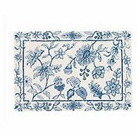 Brighton Blue Toile Rug | Atlantic Linens