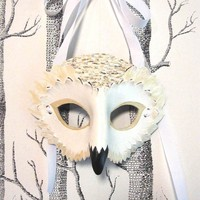 Adult Size Snowy Owl Mask (Child-sized Also Available)