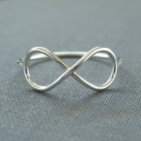Sterling Silver Ring - Infinite - Infinity Ring - Simple Modern Minimal Ring
