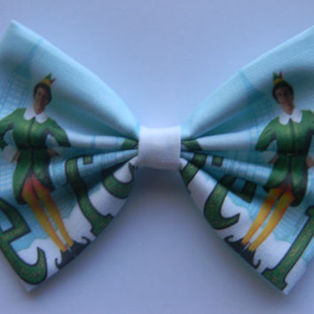 Elf Inspired Classic Hair Bow or Clip On Bow Tie
