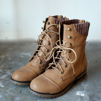 in the woods ankle sweater boots tan