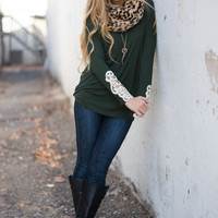 Sleeve It Alone Top, Green