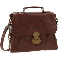 Fossil 'Vintage Reissue Lock' Leather Crossbody Satchel - Polyvore