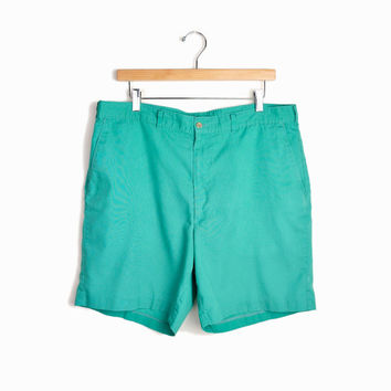 sale - Men's Vintage Summer Shorts in Mint Green - 38