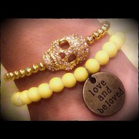 Yellow Love and Skull Bracelets from La Fede Boutique