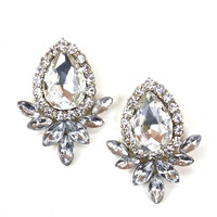 Crystal Marquis Studs - Crystal