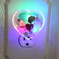 Pretty Mini Mosaic Heart Nightlight by SecondLookMosaics on Etsy