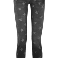Current/Elliott | The Stiletto star-print low-rise skinny jeans | NET-A-PORTER.COM