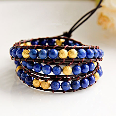 Lapis Lazuli Beads Bracelet on Luulla