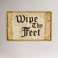 Wipe Thy Feet Cushion Floor Mat | World Market