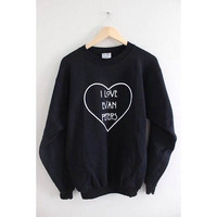 I Love Evan Peters Graphic Crewneck Sweatshirt