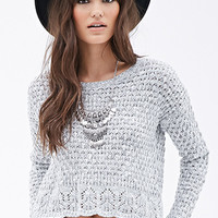 Popcorn Knit Pointelle Sweater