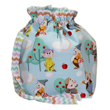 NEW Seven Dwarfs Inspired Knitting Project Bag   Disney Project Bag with Divider   7 Dwarfs Two (2) at a Time Knitting Bag