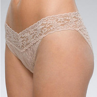 Hanky Panky Signature Lace V-kini 2-Pack Panty 23742PK at BareNecessities.com