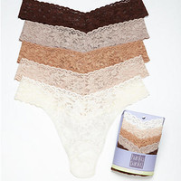 Hanky Panky Signature Lace Original Rise Thong 5-Pack Panty 4811FC at BareNecessities.com