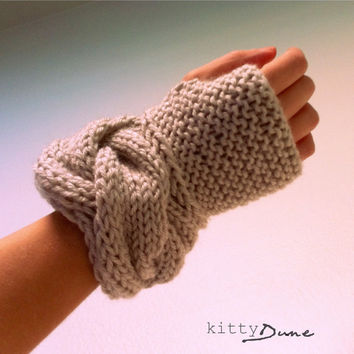 Women's fingerless gloves in Linen