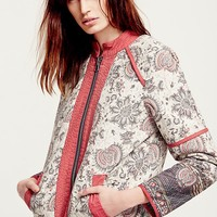 Free People Womens Belario Quilted Jacket - Ivory