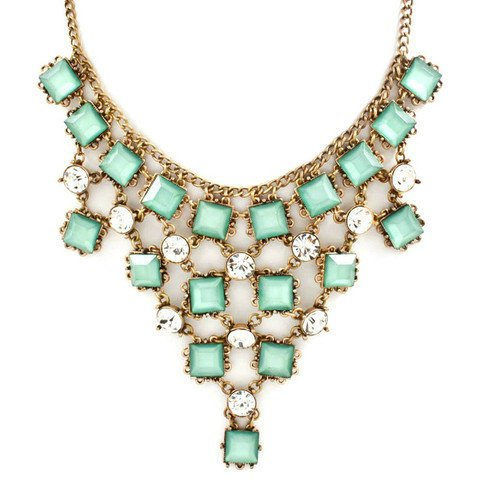 Pree Brulee - Sparkling Mint Necklace
