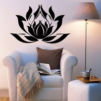 Lotus Flower Yoga Buddhism Indian Lotus Sacred Lotus Bean of India Nelumbo Nucifera Taoism Daoism Stickers Decor Sticker Decal 3057
