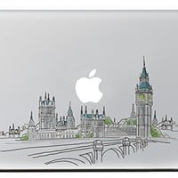 """iCasso Sights of London Vinyl Decal Sticker Skin for Apple Macbook Pro Air Mac 13"""" inch / Unibody 13 Inch Laptop"""
