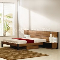 Rondo Brown Wood Modern Bed with Nightstands - VIG Furniture | Beds VIG-WC-Rondo-Bed/4